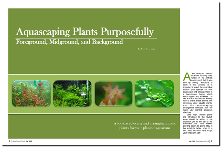 Aquascape Aquatic Plants Purposefully